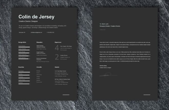 Professional Resume And Cover Letter Template For Illustrator