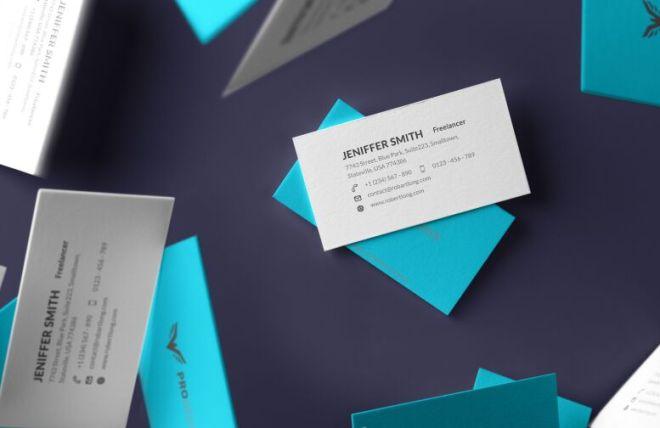 6 Realistic Print-ready Business Card Mockups PSD