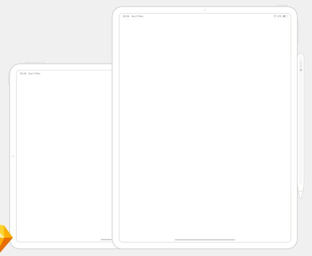 iPad Pro Wireframe Mockup For Sketch