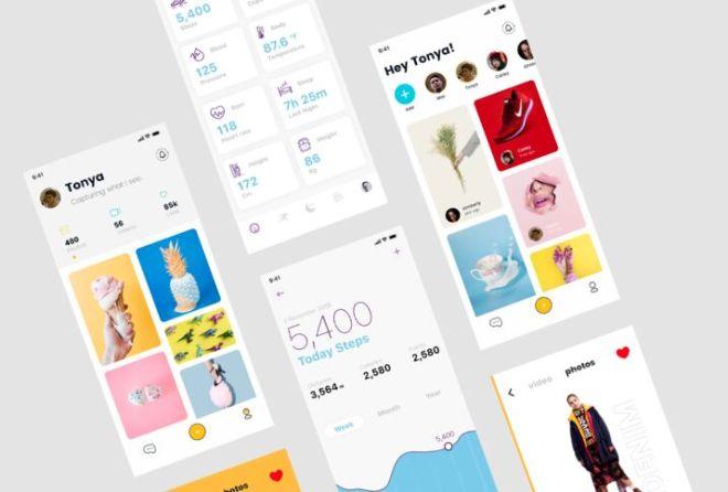 Beautiful App Presentation Mockup PSD