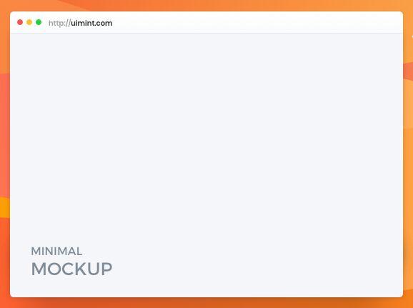 Minimal Clean macOS Browser Mockup