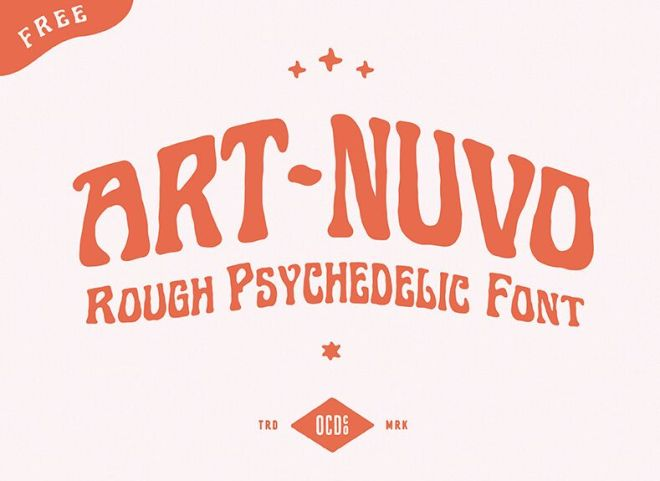 Art-nuvo Rough Psychedelic Font
