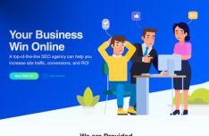 SEO Agency Web Template PSD