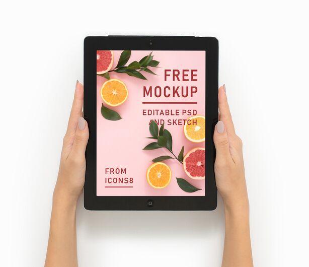 12.9-inch iPad Pro PSD & Sketch Mockup