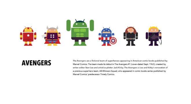 Android Superhero Vector