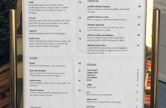Realistic Standing Restaurant Menu PSD Mockup