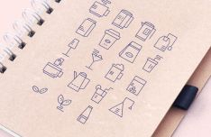 Minimal Drinks Stroke Icons Vector