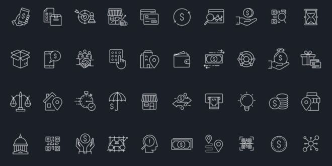 40 Financial Stroke Icons For Sketch