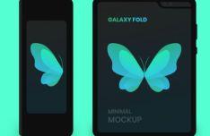 Minimal Samsung Galaxy Fold Mockup For Sketch