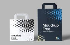 Realistic Paper Bag Mockup For Photoshop