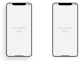 Minimal iPhone X Mockup For Presentation