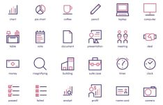 24 Business and Accounting Icons PNG