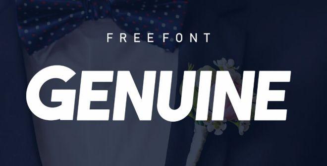 GENUINE Typeface