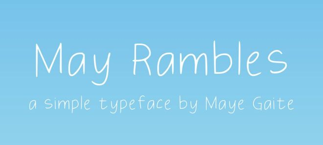May Rambles Handwriting Typeface