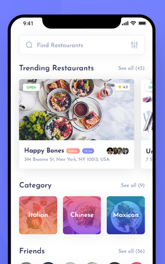 Foobybite Food & Restaurant App UI Kit For Adobe XD