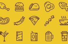 Food & Beverages Vector Icons
