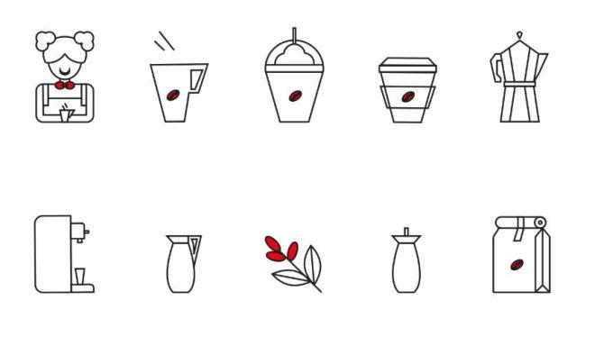 10 Barista Line Icons Vector