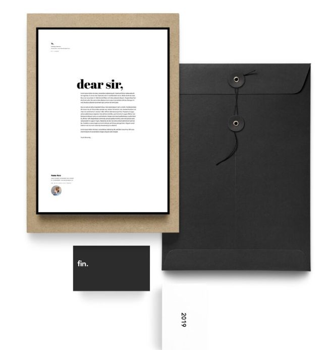 Pretty Clean Resume & Cover Letter Vector Mockup