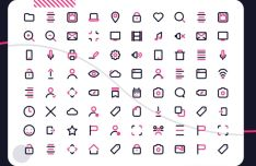 80 Outline UI Icons (PNG+SVG)