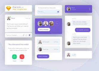 Flat Chat UI Kit Sketch