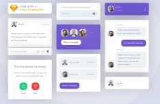 Flat Chat UI Kit Sketch