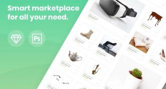 Pretty Clean Shopping UI Kit (PSD+Sketch)