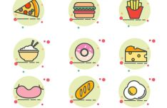 9 Food Icons For Adobe Illustrator