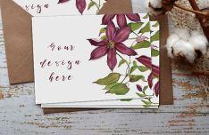 Photo Realistic Greeting Card PSD Mockup