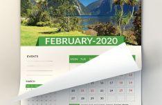 2020 Wall Calender Template (AI+PSD)