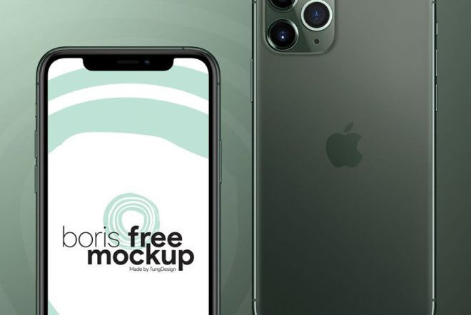 High Solution iPhone 11 Pro Mockup PSD