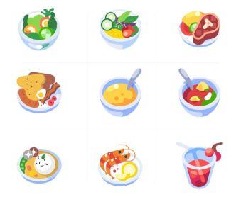 Small Food Illustrations (AI)