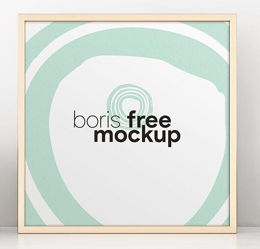 Square Poster & Photo Frame PSD Mockup