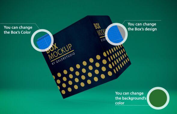Realistic 3D Box PSD Mockup