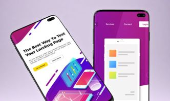 Standing & Floating Samsung Galaxy S10 PSD Mockup