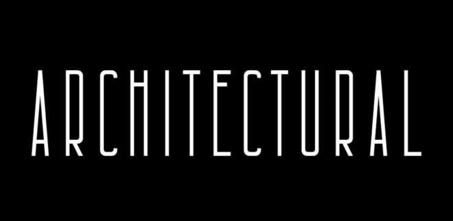 Architectural Font