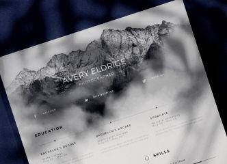 Creative Resume Template For Photoshop & Illustrator