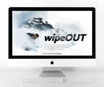 Pretty Clean iMac With Keyboard Mockup PSD