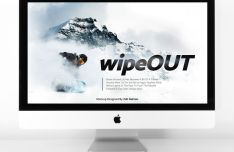 Pretty Clean iMac With Keyboard Mockup PSD