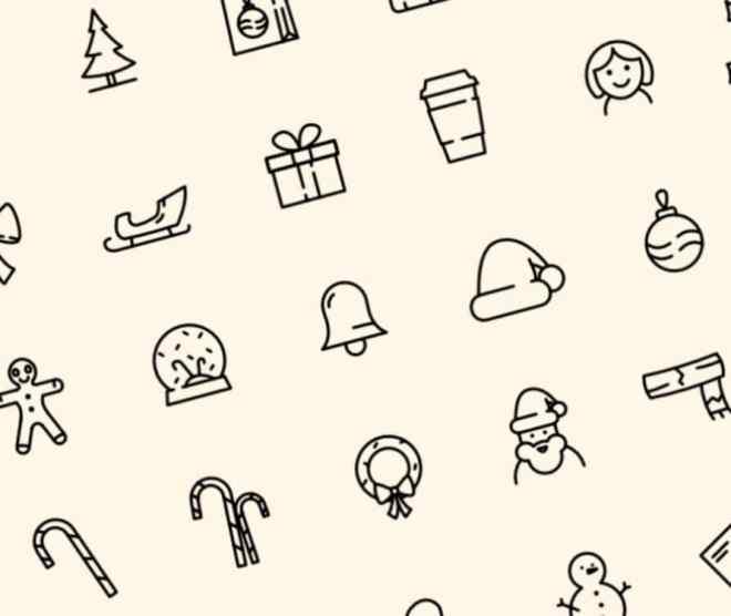 40 Christmast Line Icons (AI, Sketch, XD, Affinity Designer)