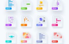 Modern File Type Icons For Sketch App