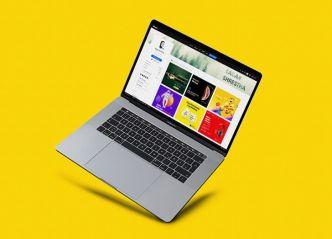Elegant Macbook Mockups PSD (5 Perspectives)