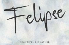 Felipse Signature Font