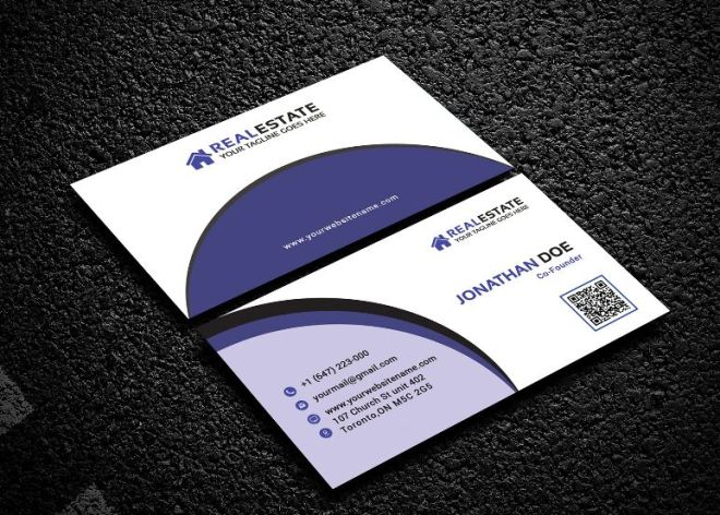 Real Estate Corporate Business Card PSD Mockup