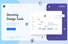 Stunning Design Tool Landing Page Sketch Template
