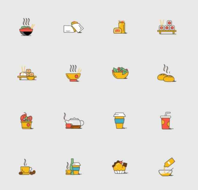 35 Asian Food SVG Icons