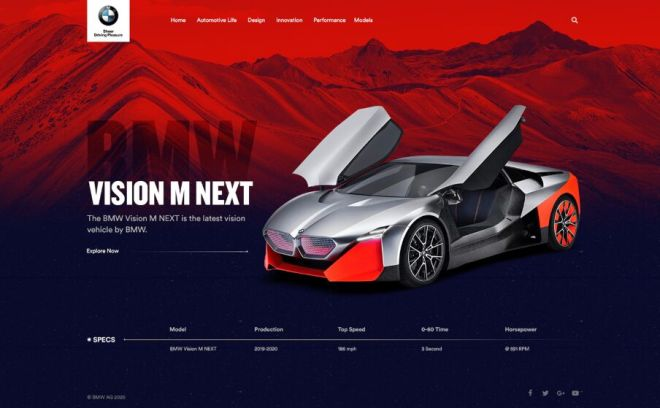New Car Landing Page PSD Template