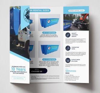 Gate-fold (3-sides) Brochure Vector Template
