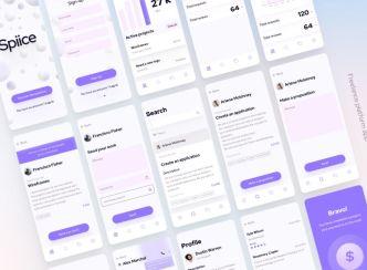 Freelance Platform Mobile App UI Design For Sketch