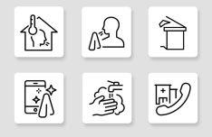 Coronavirus Prevention Icons Vector
