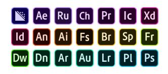 Adobe CC 2020 Icon Set (Vector)